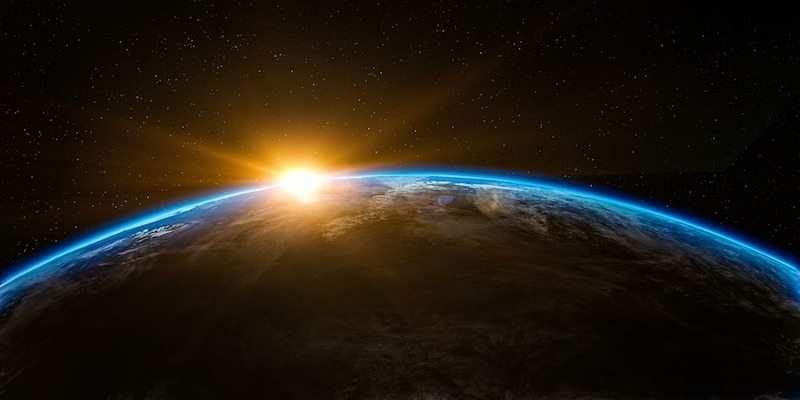 Uzaydan dünya görüntüsü
