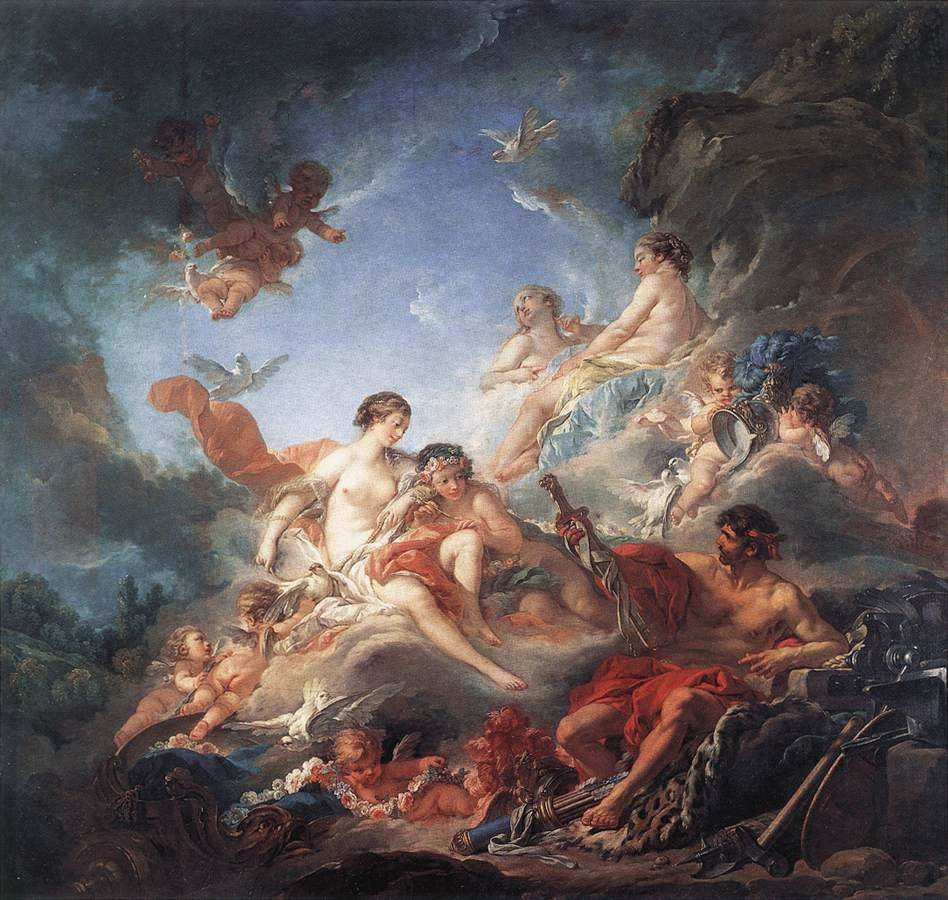 Vulcan Presenting Venus with Arms for Aeneas, Boucher
