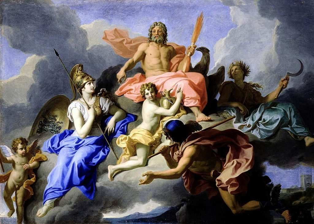 Rene Antoine, 1706 Houasse_Minerva_and_the Triumph of Jupiter 1706