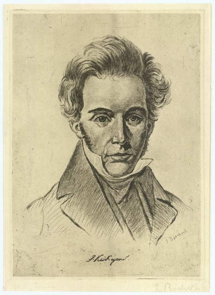 Soren Kierkegaard karakalem çizim