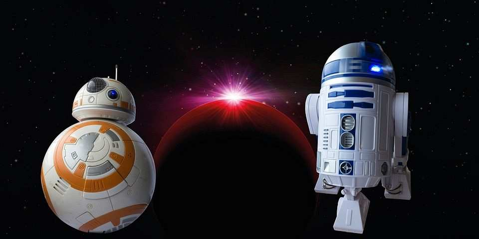 bb8 ve r2d2 star wars