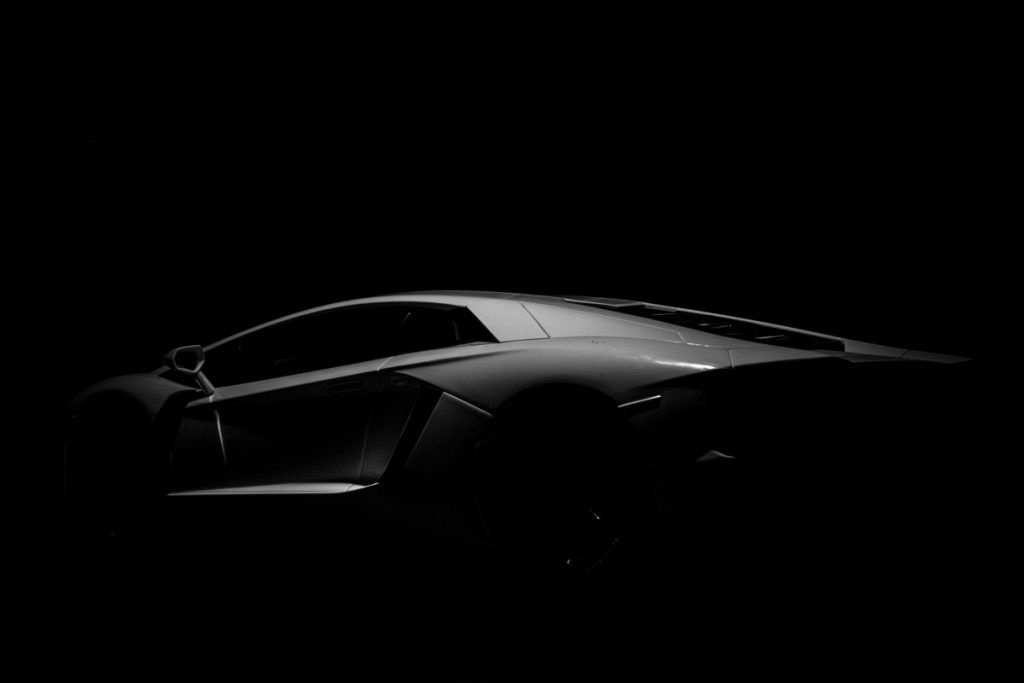 lamborghini in black