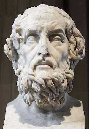 homeros büstü Louvre Müzesi