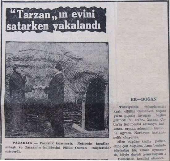sülün osman tarzan çetin haberi