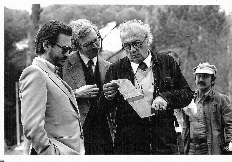 Rossellini-Renzo-Daniel-Toscan-Plantier-Federico-Fellini-ons-set-Citta'-delle-Donne