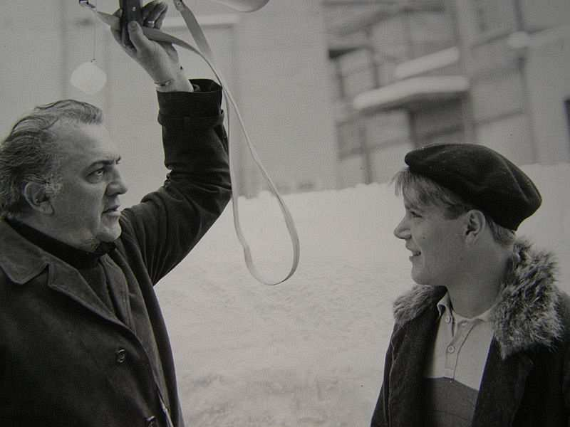 Federico Fellini ve Bruno Zanin