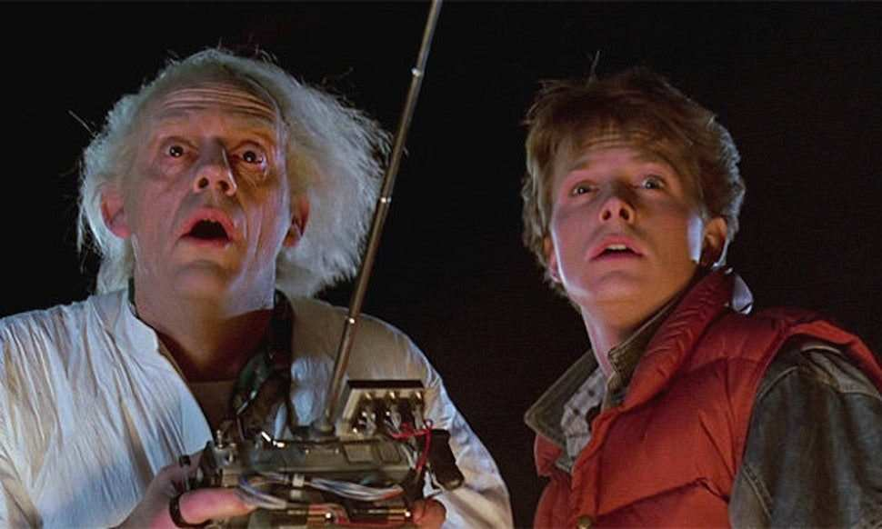 dr. brown ve marty mcfly