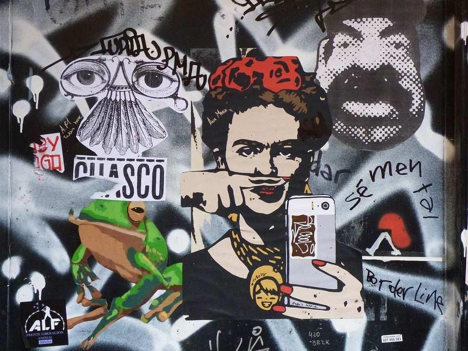 sokak sanatı, mural örneği, frida kahlo