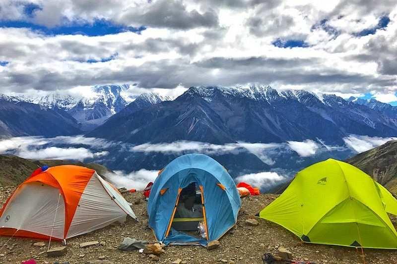 kış kampı çadırlar