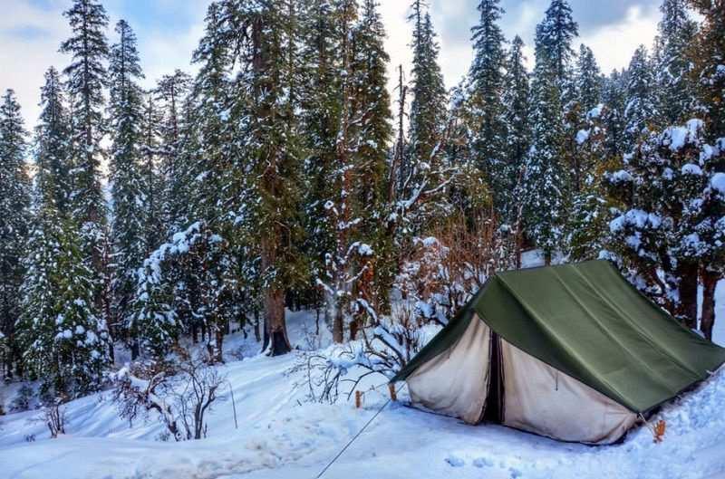 kışın kamp yapmak uyku tulumu seçimi