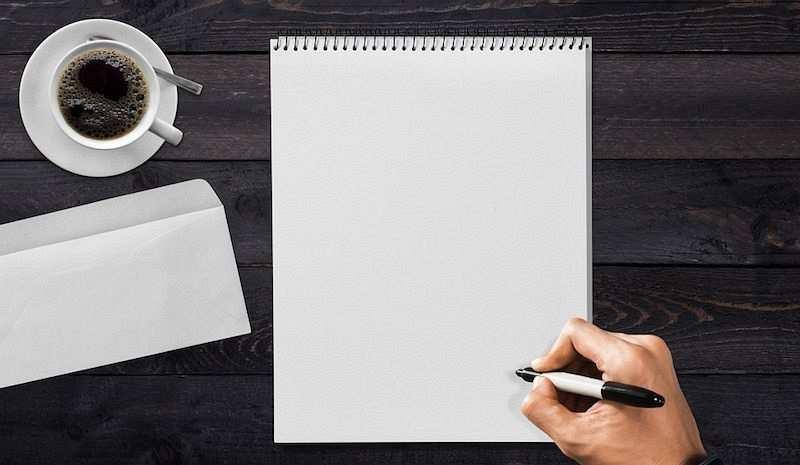 zihin haritası kahve boş not defteri kalem