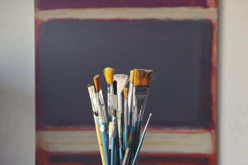 ikigai resim fırçaları masa