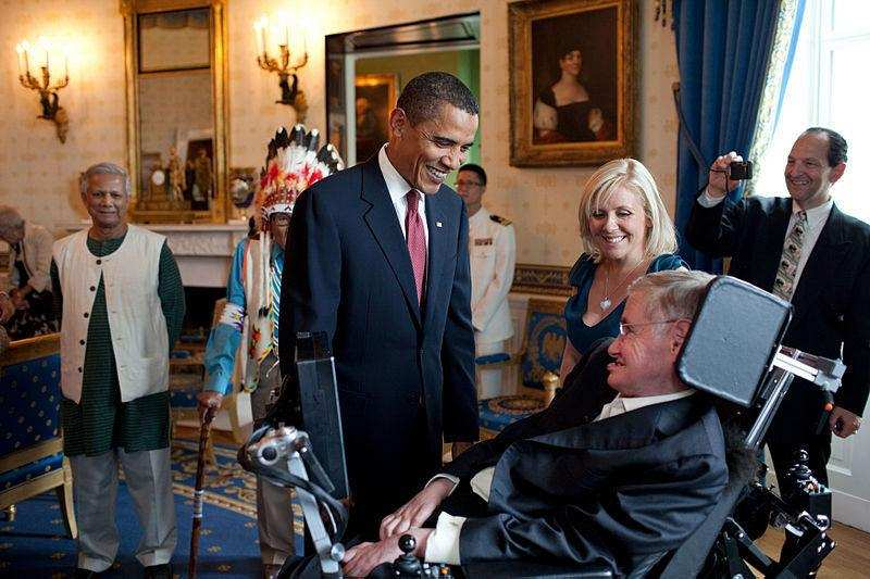 stephen hawking ve barack obama
