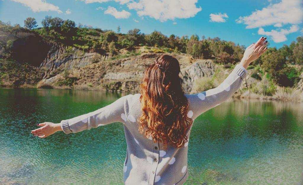 daha mutlu olmak için doğa kadın