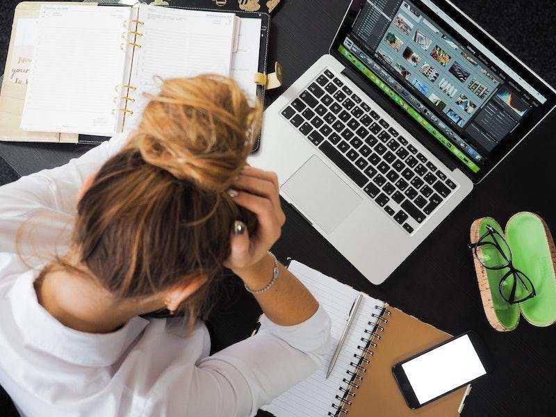 iş kadın çalışmak laptop