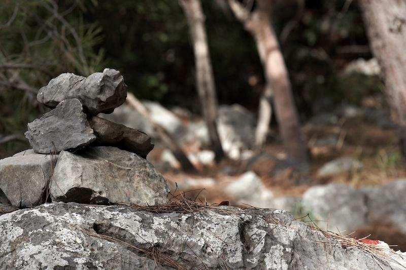 likya yolu taş yığını yol gösterici