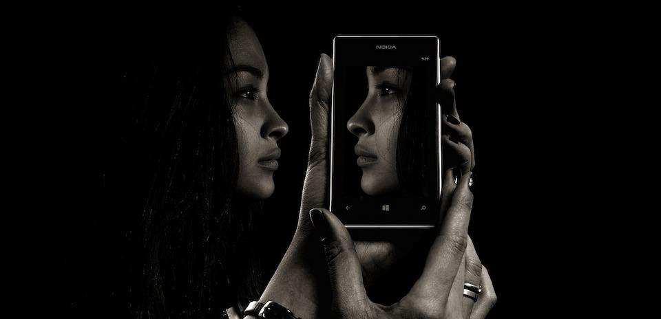 ayna kadın akıllı telefon