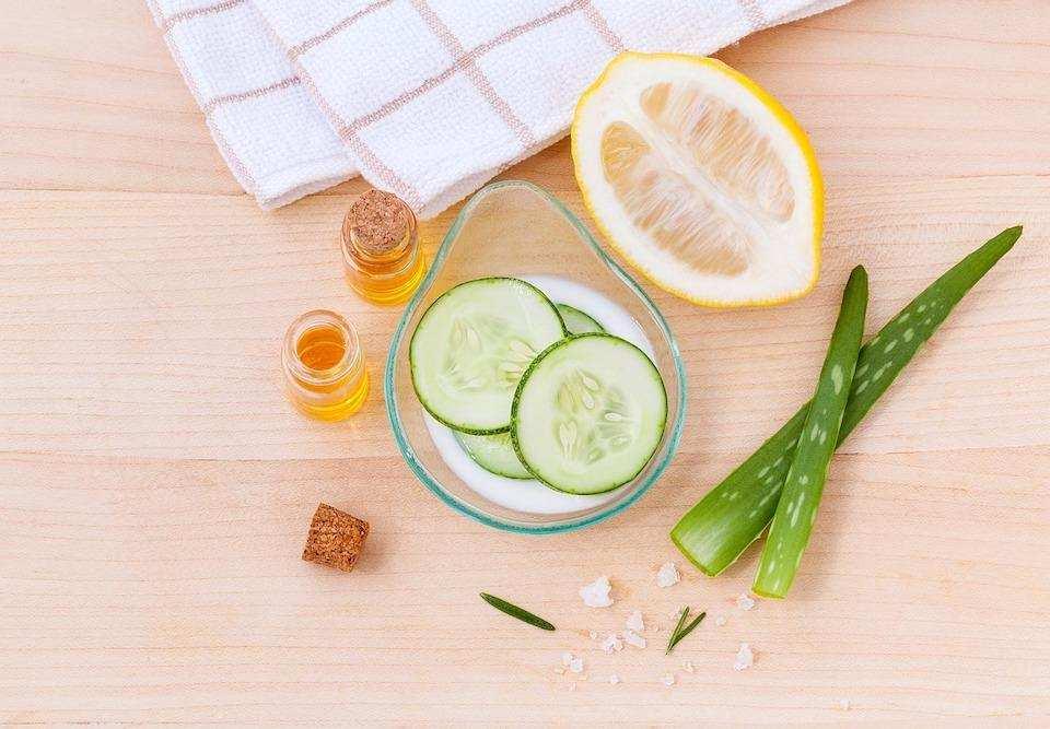doğal kişisel bakım krem salatalık limon bitkisel yağ aleo vera