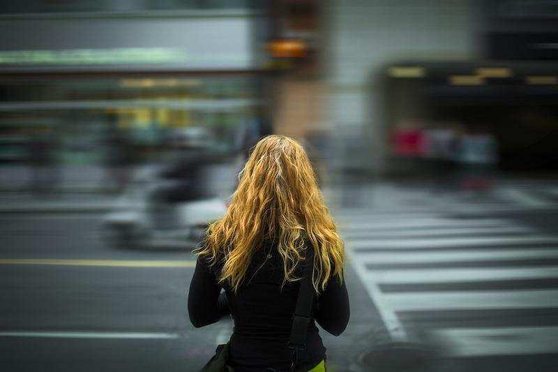 trafik kadın yol