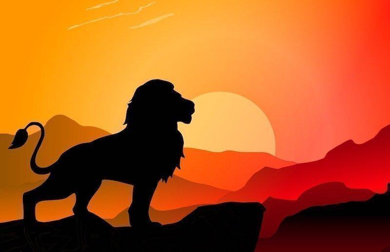aslan kral silüet