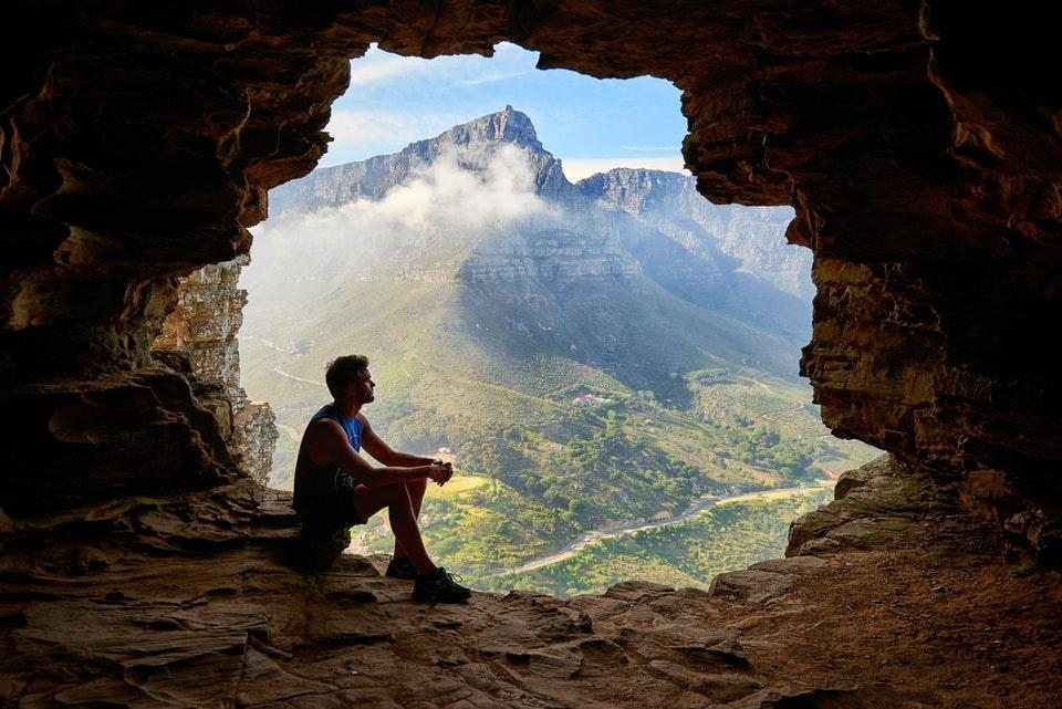 sabır mağara insan
