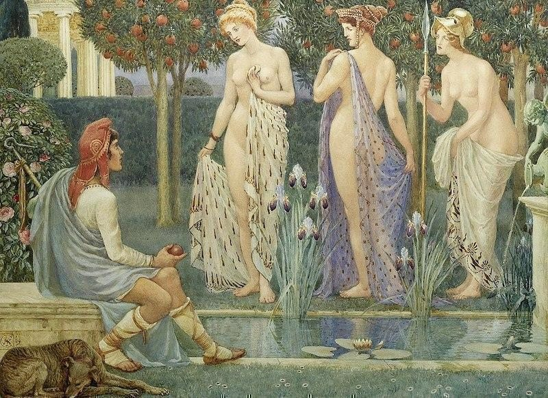 Walter Crane, The Judgement of Paris, 1909