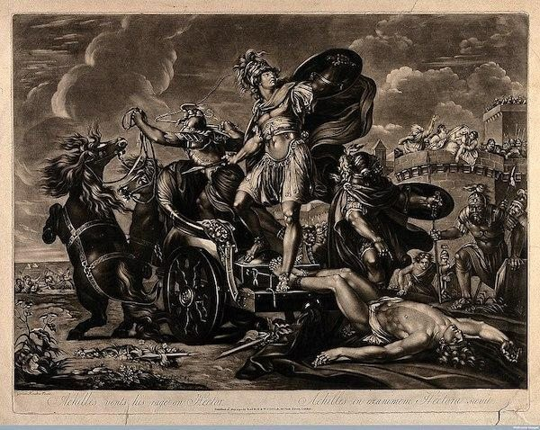 Aşil'in Hektor'un bedenini Truva'nın etrafında sürükleyişi