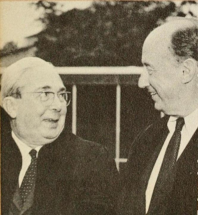 Leo Szilard & Adlai Stevenson, 1961