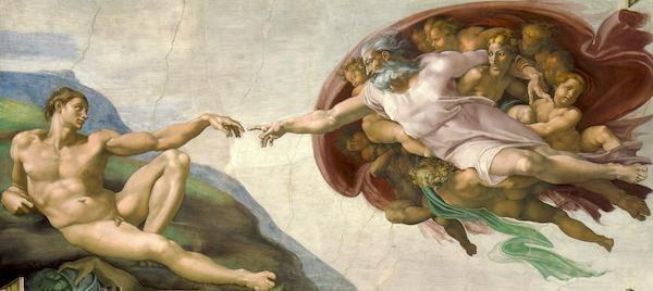 michelangelo ademin yaratılışı