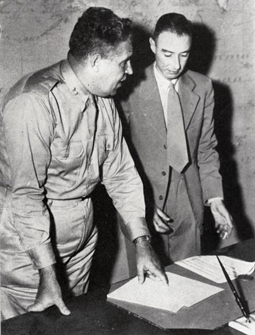 Leslie Groves & Robert Oppenheimer