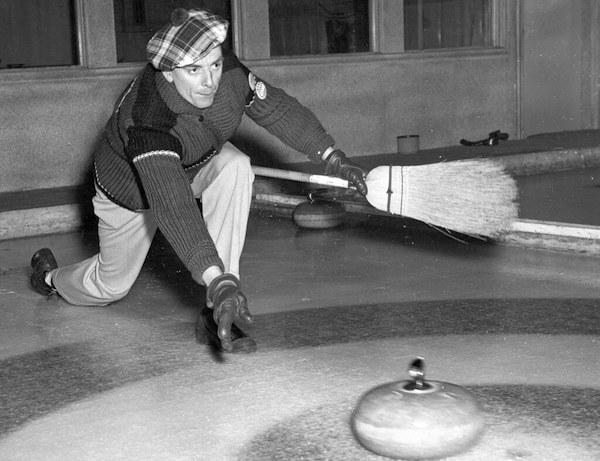 curling old photo