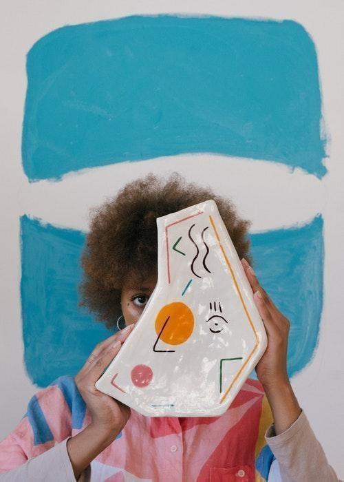creative woman modern art