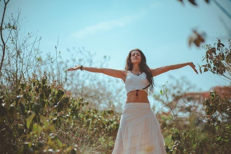 woman nature wellness