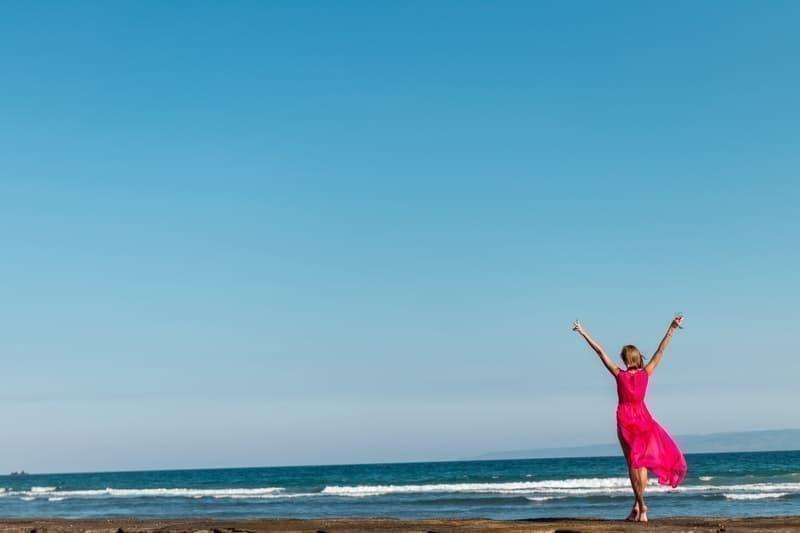 woman nature beach wellness