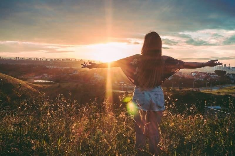 woman nature freedom wellness