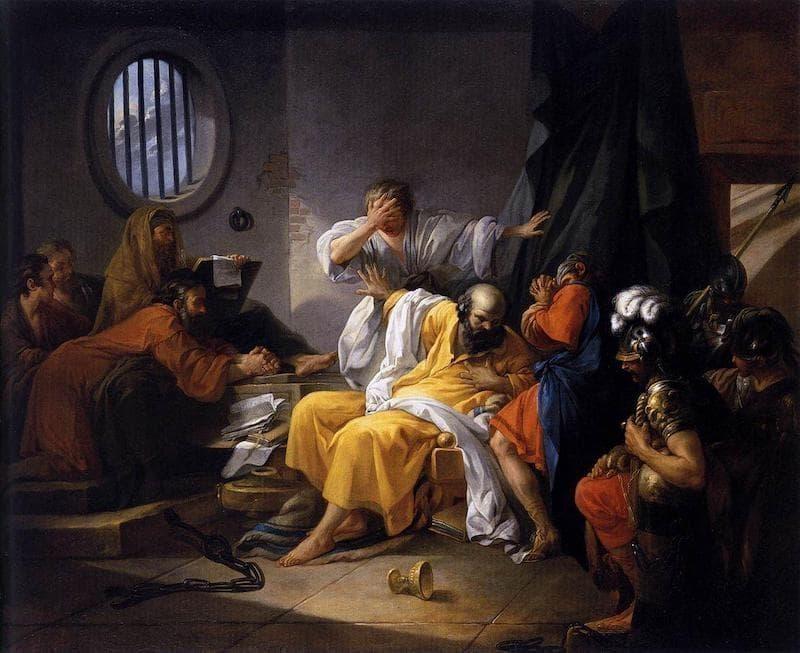 Jacques Philippe Joseph de Saint-Quentin; The Death of Socrates, 1762