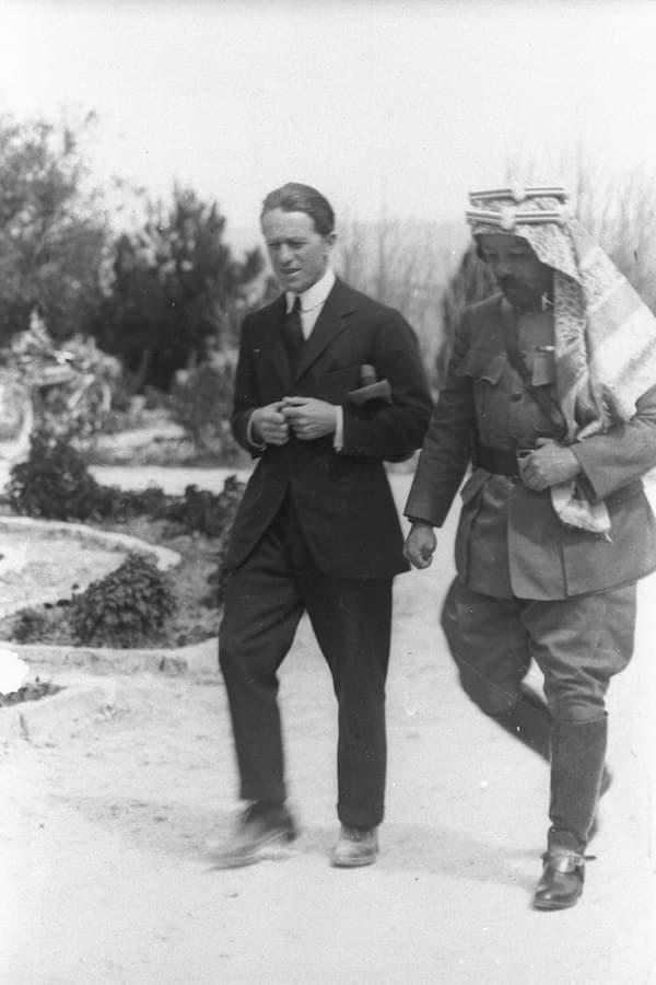 T.E. Lawrence & Emir Abdullah, Kudüs, 1921
