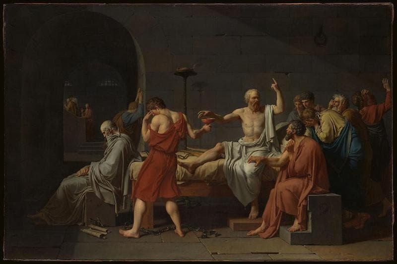 Jacques Louis David; The Death of Socrates, 1787