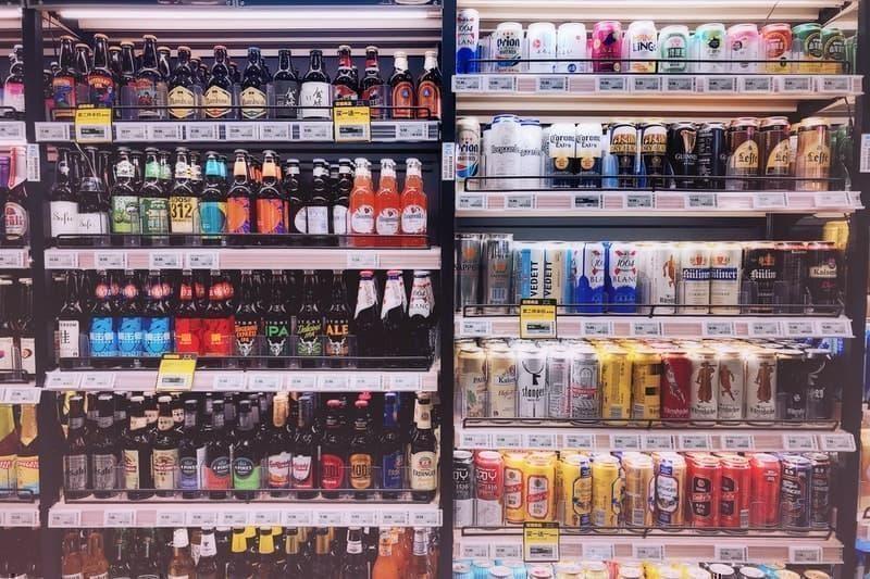 süpermarket içecek reyonu