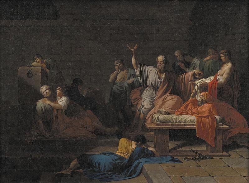 Jean-François Pierre Peyron; The Death of Socrates, 1787