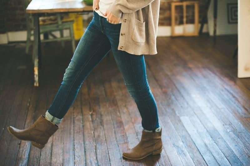 parisian parizyen boots cardigan denim