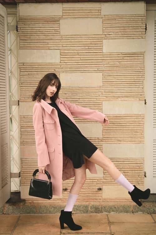 parisian parizyen woman in pink coat