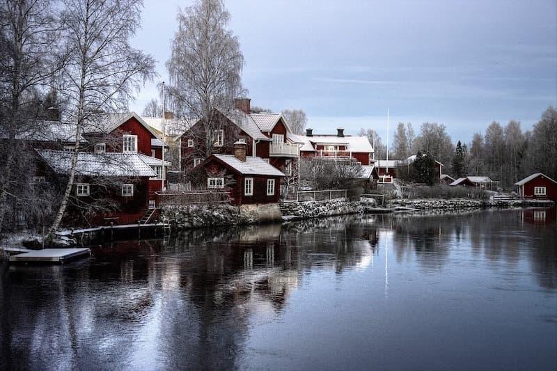 isveç evler doğa