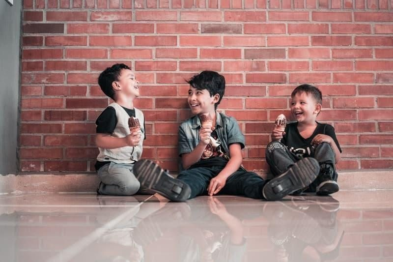 boys laughing