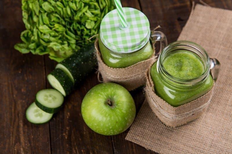 healthy food drink green