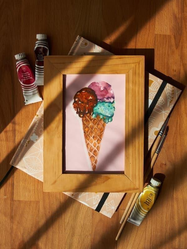 dondurma tablo masa