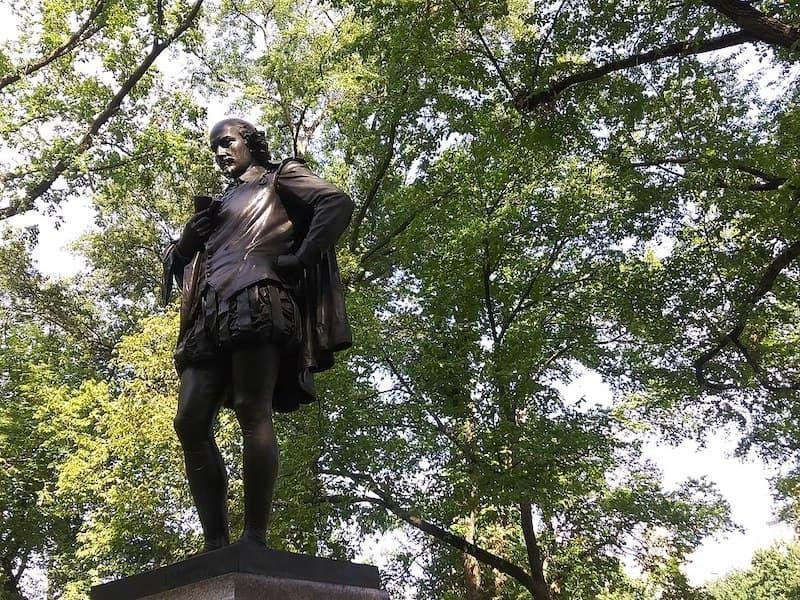 William Shakespeare Heykeli, Central Park