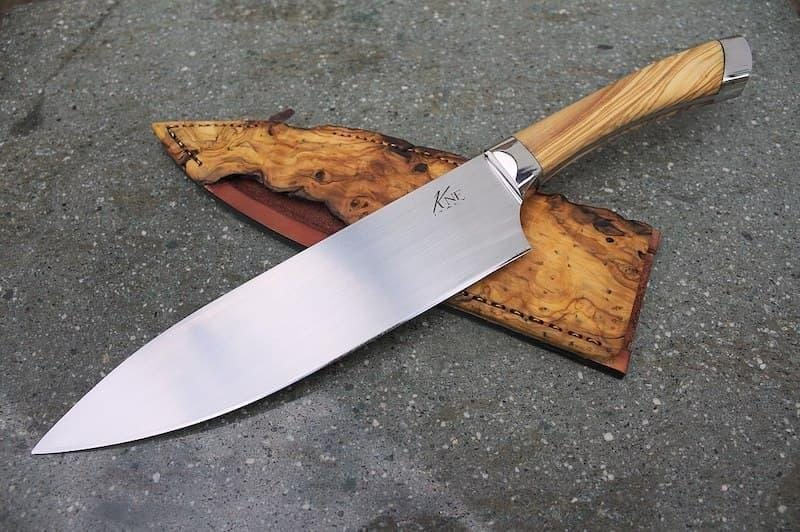 mutfakta kullanılan bıçak çeşitleri şef bıçağı