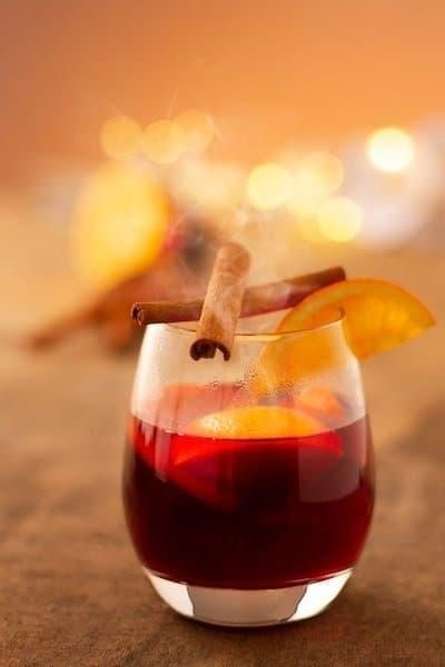 kış içecekleri sıcak şarap