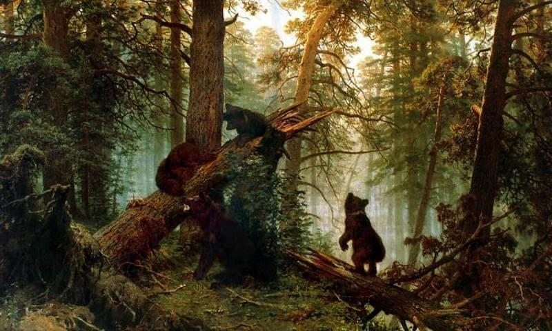 İvan İvanoviç Şişkin Çam Ormanında Sabah